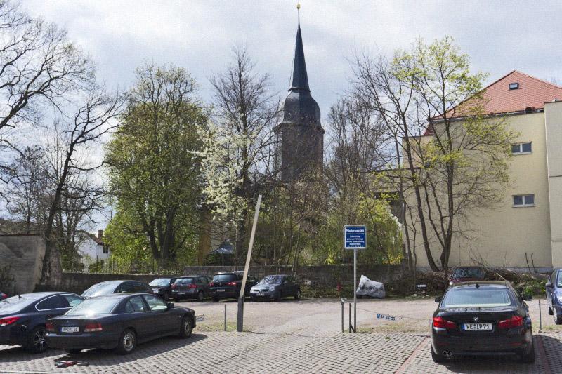 Privatparkplatz Jakobstraße, 1987-04-00