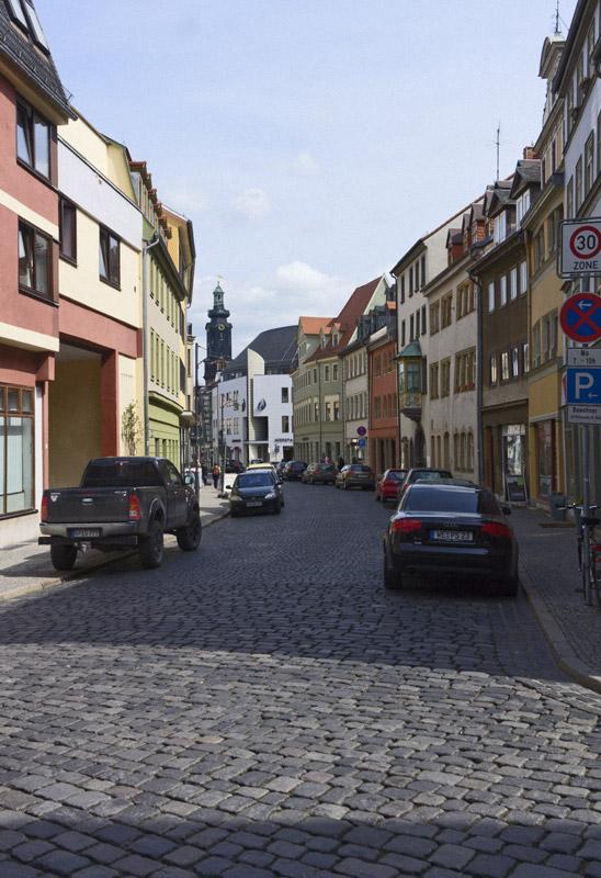Marktstraße mit Schlossturm, 1993-00-00