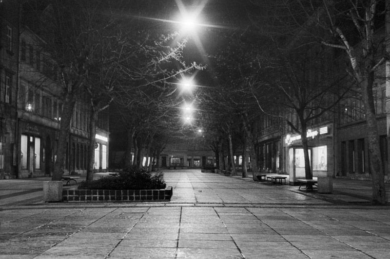 Schillerstraße bei Nacht, 2012-01-12